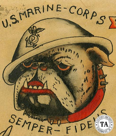 Bulldog Tattoos Marine Corps Tattoos   TattooMagz