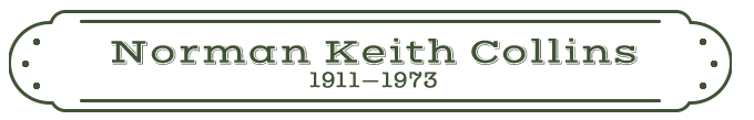 Norman Keith Collins Name Plate