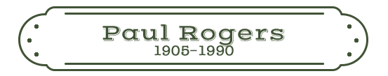 Paul Rogers Name Plate