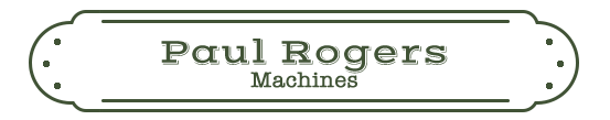 Paul Rogers: Machines Name Plate
