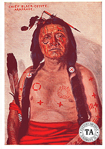 Postcard showing Arapahoe Chief Black Coyote.